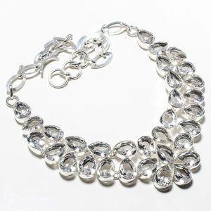 Jewelry - White Topaz Gemstone 925 Silver Necklace